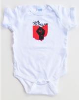 'Viva Cleveland!' in Red and Black on White Rabbit Skins Onesie