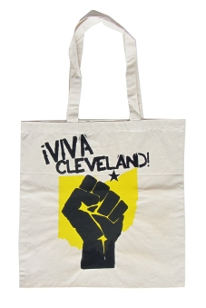 'Viva Cleveland!' in Yellow and Black on Natural Tote