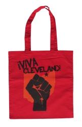 'Viva Cleveland!' in Yellow and Black on Red Tote