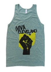 'Viva Cleveland' in Yellow and Black on Tri-Lemon American Apparel Tank