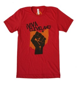 'Viva Cleveland' Solid Red Unisex Tee
