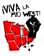 '!Viva La Midwest!' in Red and Black on 11'' x 14'' White Bristol Board