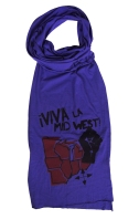 '!Viva La Midwest!' in Red and Black on Purple Jersey Scarf