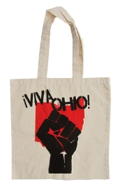 '!Viva Ohio!' in Red and Black on Natural Tote