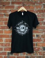 'Ward 216' on Black Tri-Blend Unisex Tee