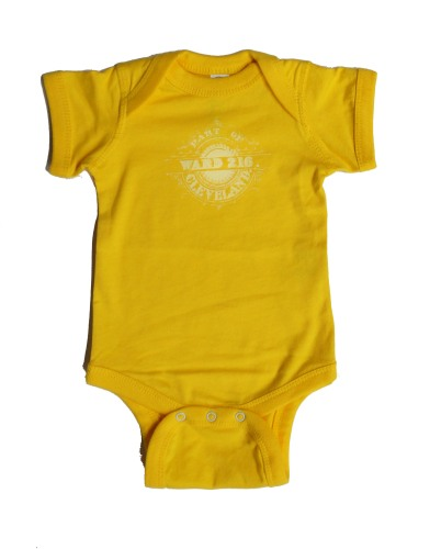 'Ward 216' on Yellow Baby Onesie