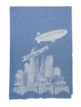 'World Is Yours' Athletic Blue AA Scarf (Flat)