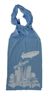 'World Is Yours' Athletic Blue AA Scarf