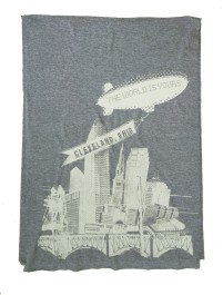 'World Is Yours' Grey AA Jersey Scarf (Flat)