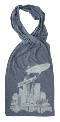 'World Is Yours' Grey AA Jersey Scarf
