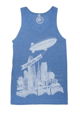 'World Is Yours' on Athletic Blue Unisex American Apparel Tank