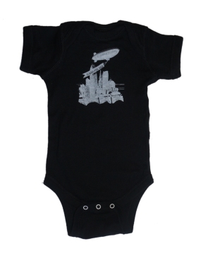 'World Is Yours' on Black Baby Onesie