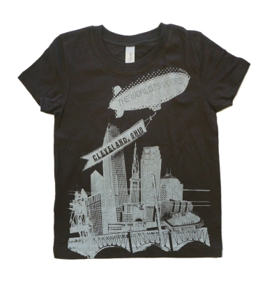 'World Is Yours' on Chocolate Brown Toddler Tee
