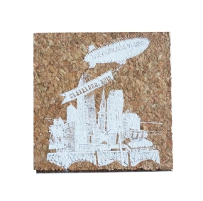 'World Is Yours' on Cork Coaster