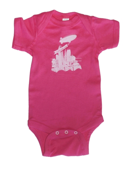 'World Is Yours' on Hot Pink Baby Onesie