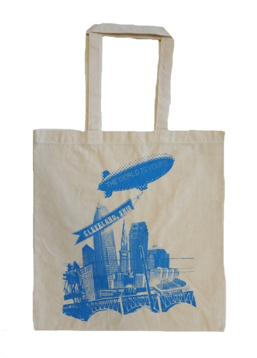 'World Is Yours' on Natural Tote