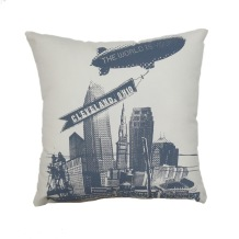 'World Is Yours' on Natural Twill Pillow