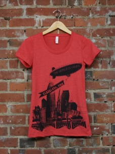 'World Is Yours' on Red TriBlend Ladies Tee
