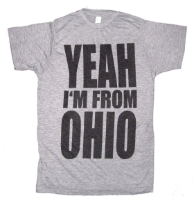 'YEAH I'M FROM OHIO' in Black on Heather Grey Unisex Tee