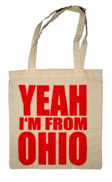 'YEAH I'M FROM OHIO', in Red on Natural Tote