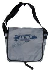 'Akron Blimp' in Dark Blue on Grey Messenger Bag