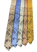 'CLE Downtown Map' in Dark Brown on Multiple Neckties