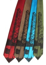 'Cleveland Bridges' in Dark Brown on Multiple Neckties