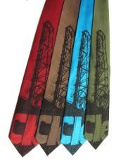 'Cleveland Bridges' in Dark Brown on Multiple Neckties