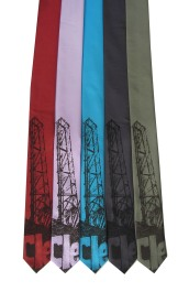 'Cleveland Bridges' on Multiple Skinny Neckties