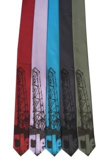 'Cleveland Bridges' on Multiple Skinny Neckties