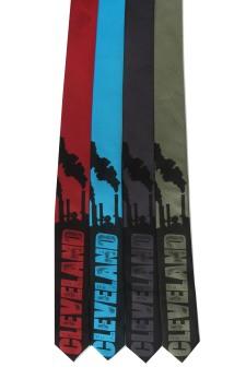 'Cleveland Smokestacks' on Multiple Skinny Neckties