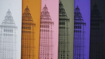 'Terminal Tower' on Multiple Neckties (Detail)