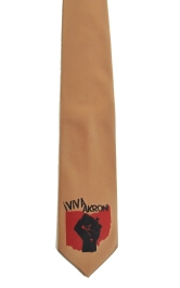 'Viva Akron!' in Red and Black on Copper Necktie