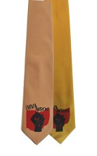 'Viva Akron' in Red and Black on Multiple Neckties