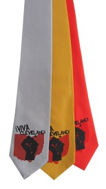 'Viva Cleveland!' Multiple Neckties (Silver, Gold Bar, Coral Red)