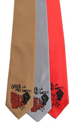 'Viva La Midwest!' on Multiple Neckties (Copper, Silver, Coral Red)