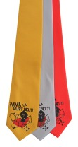 'Viva La Rust Belt!' on Multiple Neckties (Gold Bar, Silver, Coral Red)