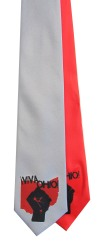 'Viva Ohio!' on Multiple Neckties (Silver and Coral Red)