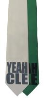 'YEAH CLE' in Multiple Colors on Multiple Neckties