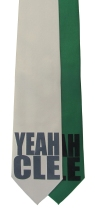 'YEAH CLE' in Multiple Colors on Multiple Neckties