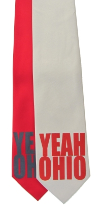 'YEAH OHIO' in Multiple Colors on Multiple Neckties