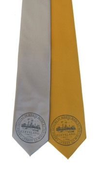 'City Seal' in Shimmer Black on Wide Neckties
