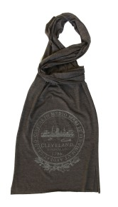 'City Seal' in Shimmer White on Tri-Coffee American Apparel Scarf