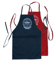 'City Seal' in White Ink on Multiple Aprons