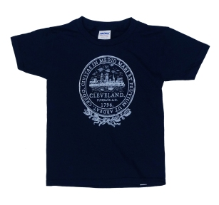 'City Seal' in White on Navy Toddler Tee