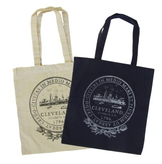 'City Seal' on Natural and Navy Tote