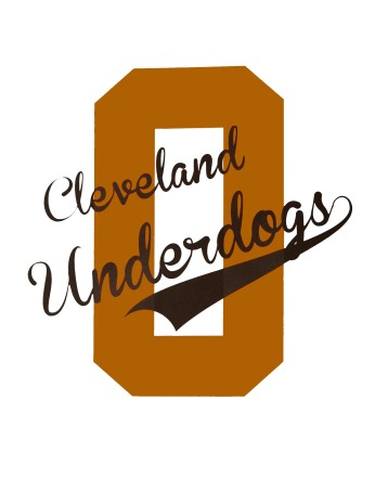 'Cleveland Underdogs' in Orange and Brown on White 11x14 Paper Print