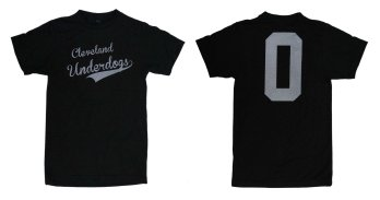 'Cleveland Underdogs' in White on Heather Graphite Unisex Tee (Both)