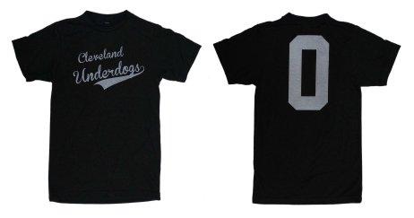 'Cleveland Underdogs' in White on Heather Graphite Unisex Tee (Both)