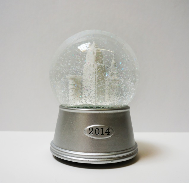 'Downtown Cleveland' 2014 Snow Globe, Silver Base